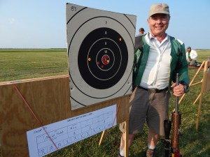 Here's a nice 1000-yard target from David Tubb, 11-time NRA National High Power Rifle Champion, 6-time NRA High Power Long Range Rifle Champion, two-time Wimbledon Cup winner, and current Long Range World Champion. This target was fired from prone using full-length-sized cases, with carefully constructed rounds. The rifle is a TUBB 2000 bolt-action chambered in the 6XC cartridge. Tubb sizes the case bases an additional 0.0005 smaller than SAAMI specs, and sets the case shoulders back 0.002 inches.