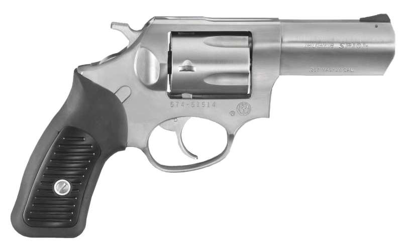 Ruger SP101 right side stainless with black grip