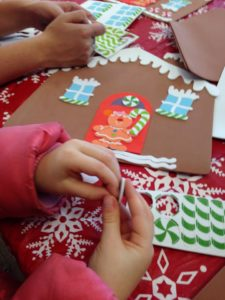 Children doing Christmas crafts
