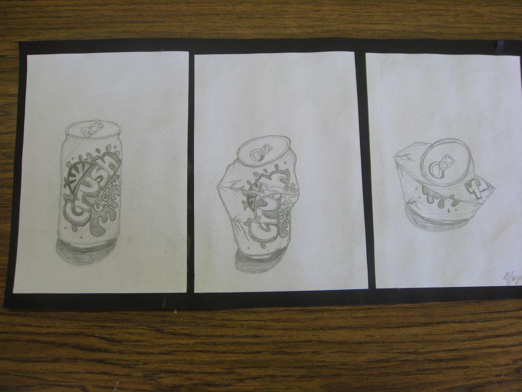 Contour Line Soda Can Triptych