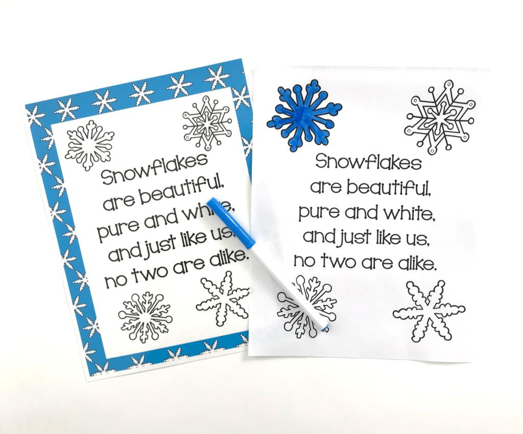 Snowflake Activities For The Preschool Classroom