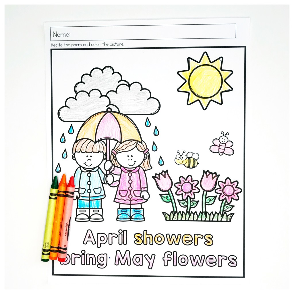 Spring Preschool Literacy Worksheets