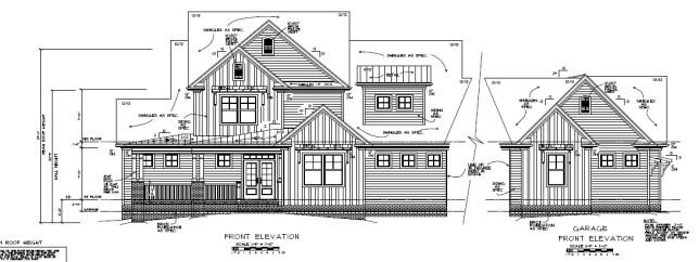 Orange County Estate Front Elevation