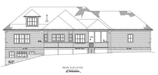 Eno Springs Estate 1 Rear Elevation