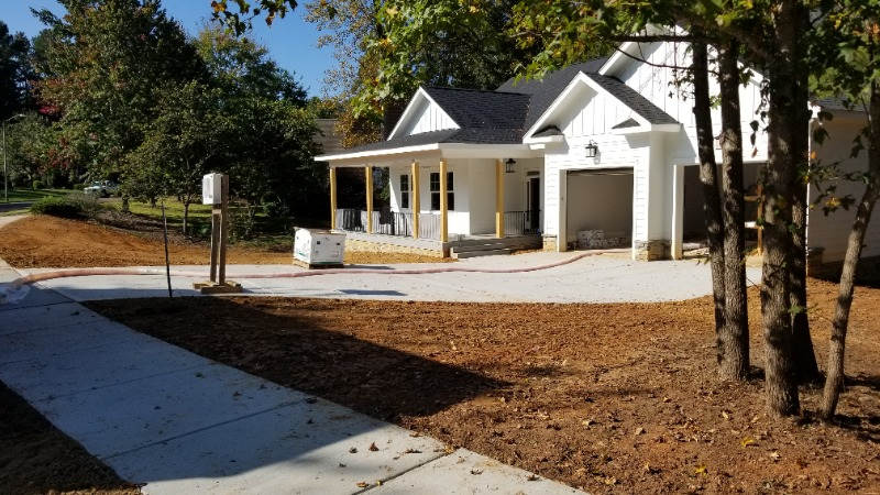 Ready to start landscaping at the City of Durham custom home
