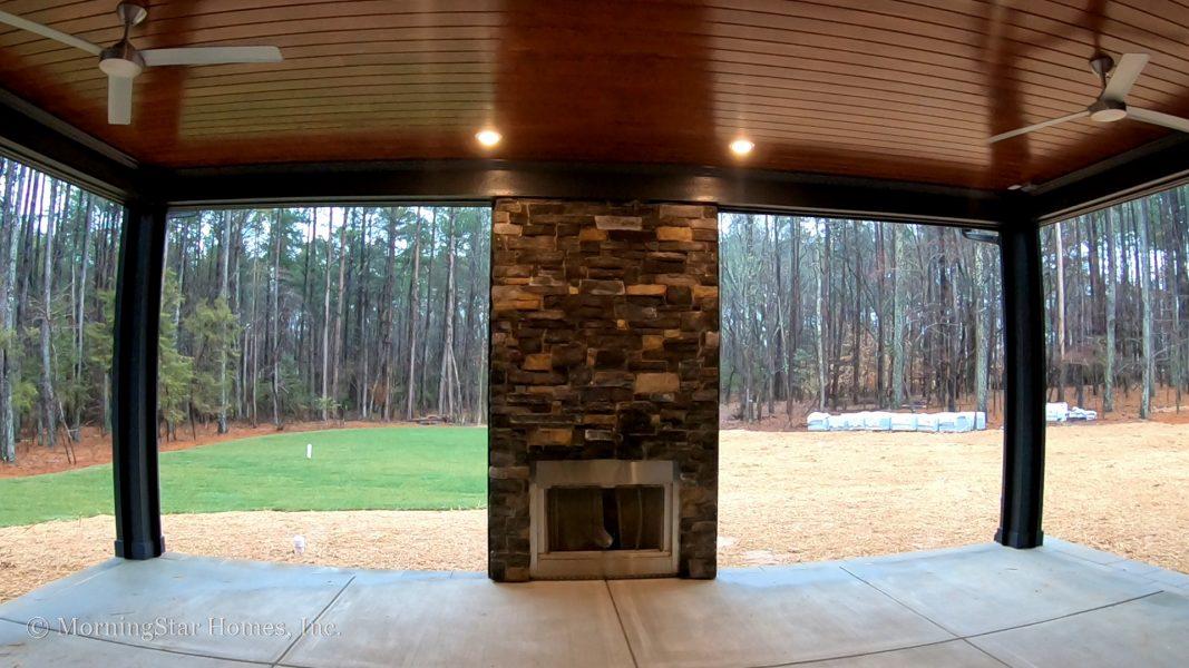Windfall Creek Estate back patio