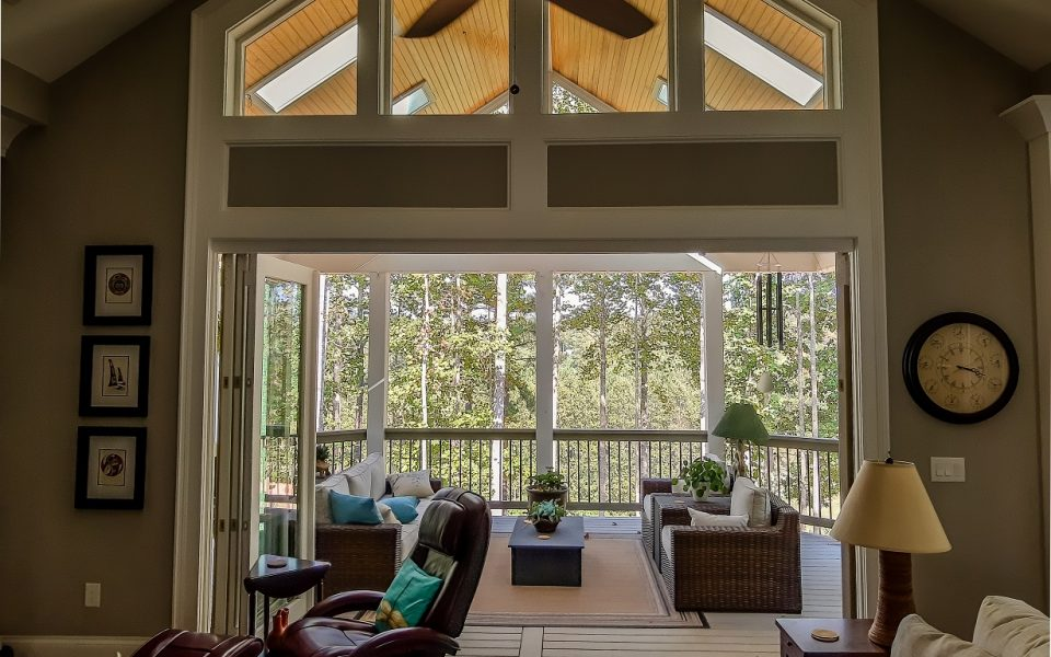 Great Room with access to outdoor living room