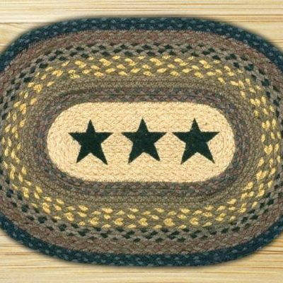 Black Stars 48-PM099BS Oval Placemat 13x19