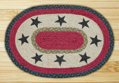 Black Stars 48-PM238BS Oval Placemat 13x19