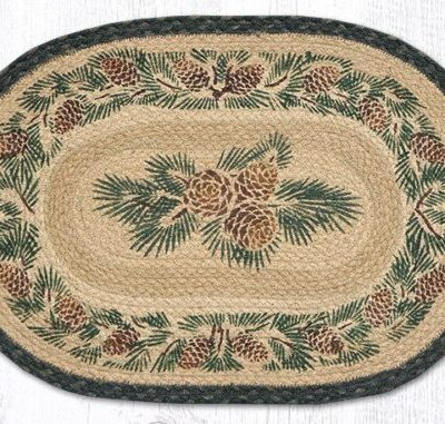 Pinecone 48-025A Oval Placemat 13x19