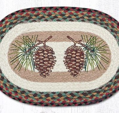 Pinecone 48-081P Oval Placemat 13x19