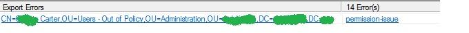 Azure AD Sync error