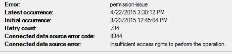 AAD Sync permission error details