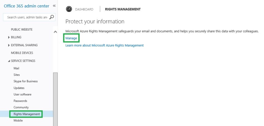 Configuring Office 365 Message Encryption