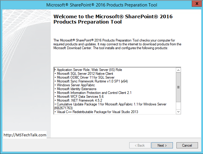 SharePoint Server 2016 - Preparation Tool