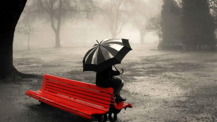 lonely-girl-sitting-on-bench-summer-rain-facebook-timeline-cover,1366x768,66998