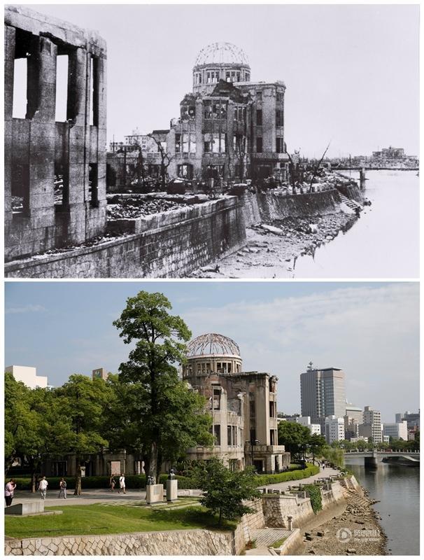 核爆70週年 日本原子彈爆炸現場今昔對比
