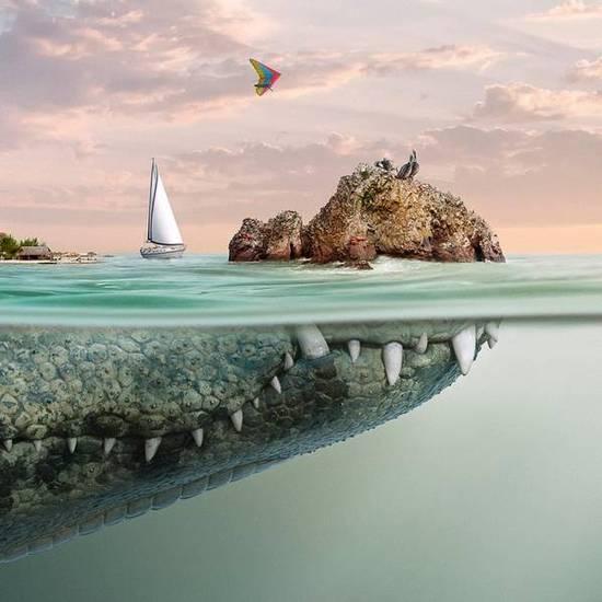 圖片故事:幻想的小島下的世界