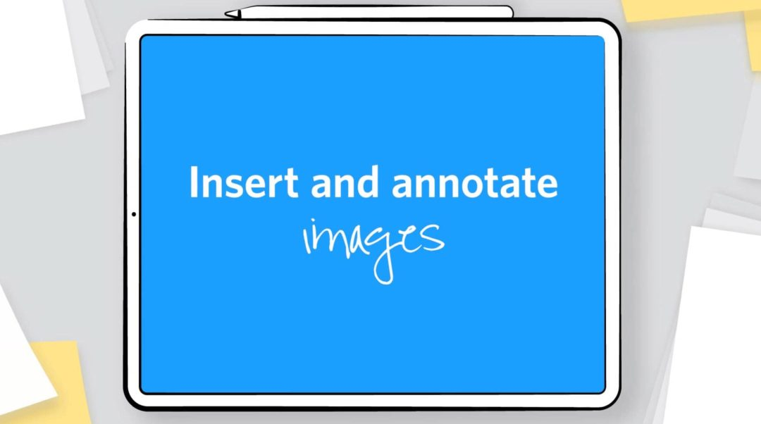 Insert and annotate images