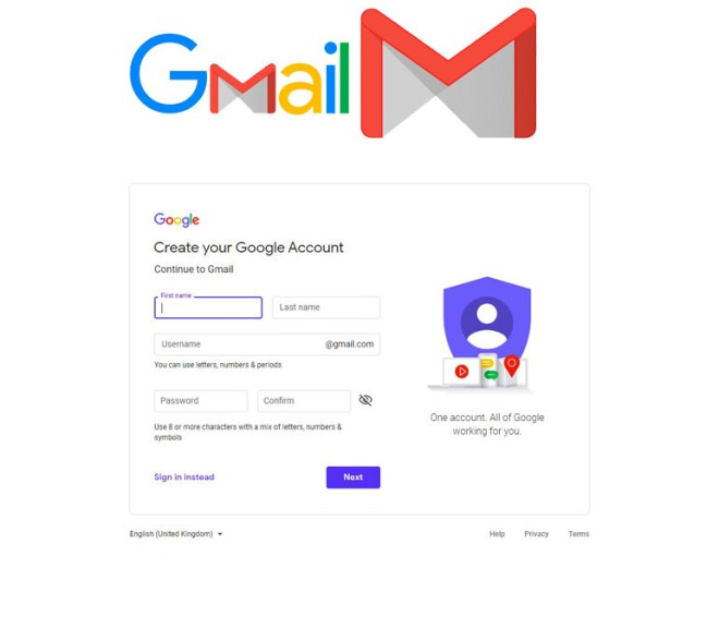Gmail Sign up – Create New Gmail Account Free | Google Account Sign up