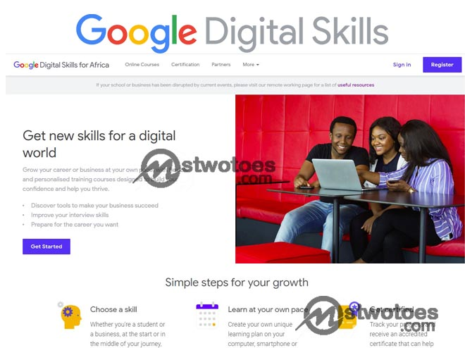 Google Digital Skills for Africa – How to Sign up for Google Digital Skills Africa