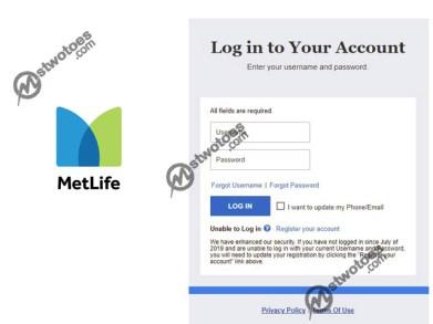 MetLife Login - Login to MetLife Account Online | MetLife Login Page