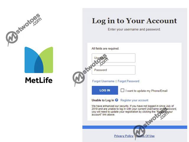 MetLife Login – Login to MetLife Account Online | MetLife Login Page