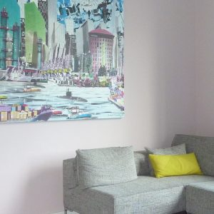 Roze wand M Style interieur