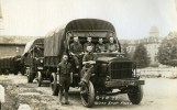 Arno and others posing with a truck, circa 1918 (A006442)