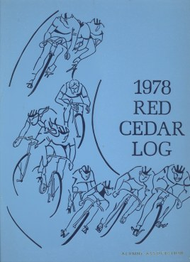 Bike themed cover of the 1978 Red Cedar Log