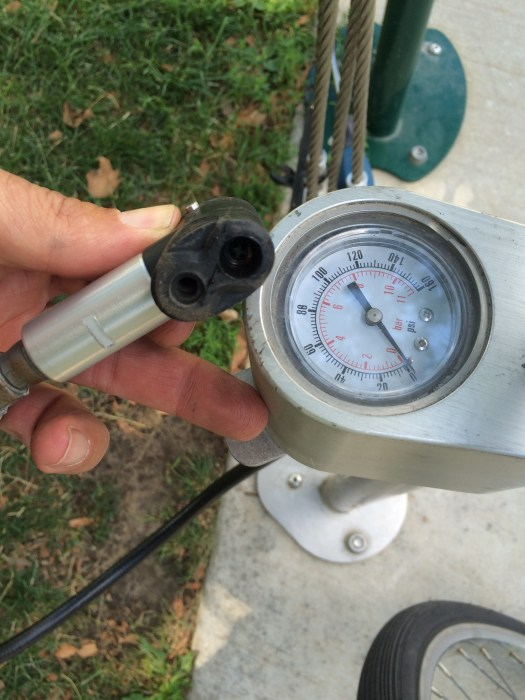 High-grade outdoor pump w/ universal inflator head