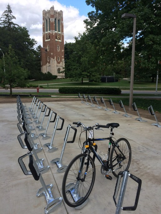 New Main Library bike parking area finished (fall 2015).