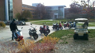 Some things don't change much - taken 2012 outside main Brody Hall entry.