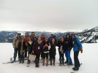 Fraternity and Sorority friends at Whistler