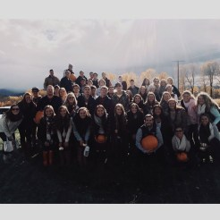 Chi Omega carved pumpkins with Pike