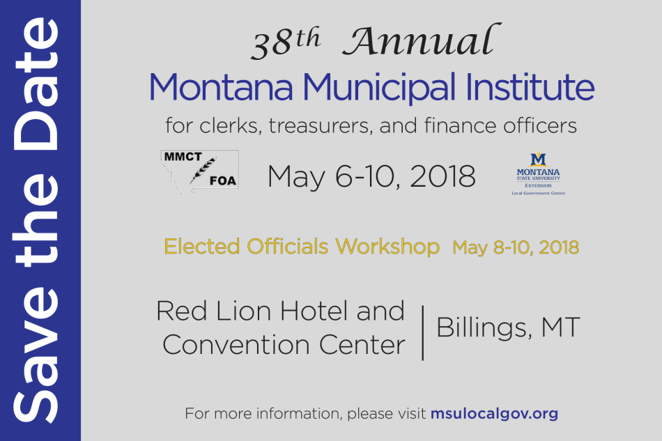 38th Annual Montana Municipal Institute @ Billings Red Lion Hotel and Convention Center | Billings | Montana | United States