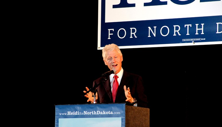 Bill Clinton visits Fargo
