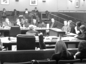 Kayla Vandenheuvel and Kristen Fildes testified to the House ofRepresentatives about the MTLE test on March 8.