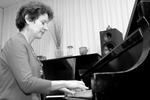 Terrie Manno demonstrates her love for piano.