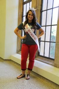 2013 Miss Moorhead Maren Groff strikes a pose.