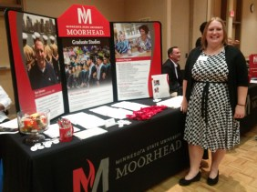 Jennifer Buchanan, graduate student in counseling and student affairs, organized the Graduate and Professional College Student Fair, which hosted 44 schools from across the country last Wednesday.