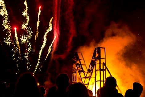 The annual Burning of the M and fireworks show took place on Friday night outside of Nemzek.