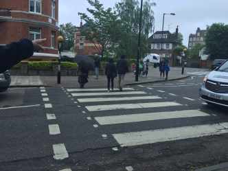 Abbey Road crossing, where the Beatles took the cover photo for their Abbey Road album.
