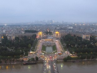 View from the 2nd floor of the Eiffel Tower