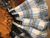 Cashmere scarves £100 each.