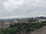 View of the city from the Edinburgh castle.