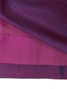 Inside of skirt showing lining and hem.