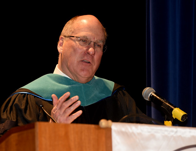 Dr. Joseph Craft, president and CEO of Alliance Resource Partners LP and cofounder of the Craft Academy, delivered the commencement address at the Academy's commencement ceremony held Saturday, May 11.