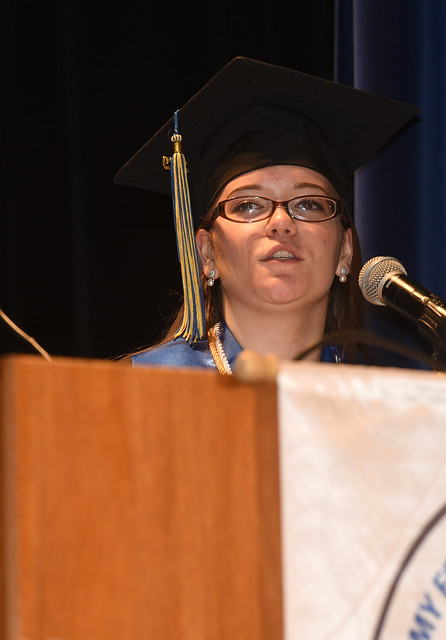 Lori Porter (19) was the student speaker at the commencement ceremony for the Craft Academy for Excellence in Science and Mathematics. She is the daughter of John and Brinda Porter.