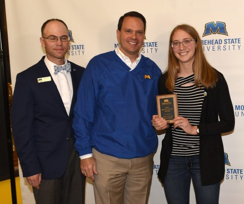 Jessica Farrell (16, right) was awarded the Rising Eagle Award.